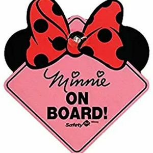 Minnie on Board baby window sign